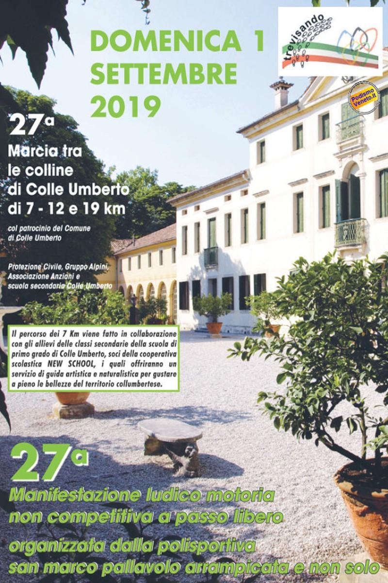 Calendario Podismo Veneto Ottobre 2020.Eventi Venetando 27 Marcia Tra Le Colline Di Colle Umberto
