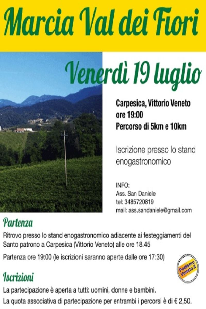 Calendario Podismo Veneto Ottobre 2020.Eventi Venetando Marcia Val Dei Fiori