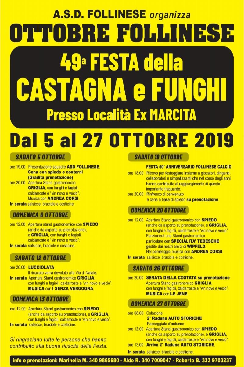 Calendario Funghi.Eventi Venetando Ottobre Follinese 49 Festa Della