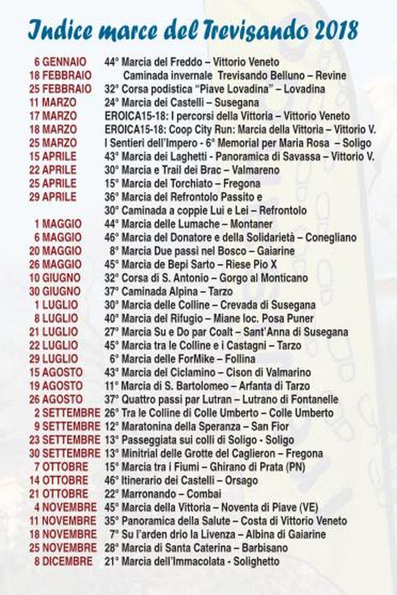 Calendario Marce Veneto.Eventi Venetando Trevisando Marce 2018
