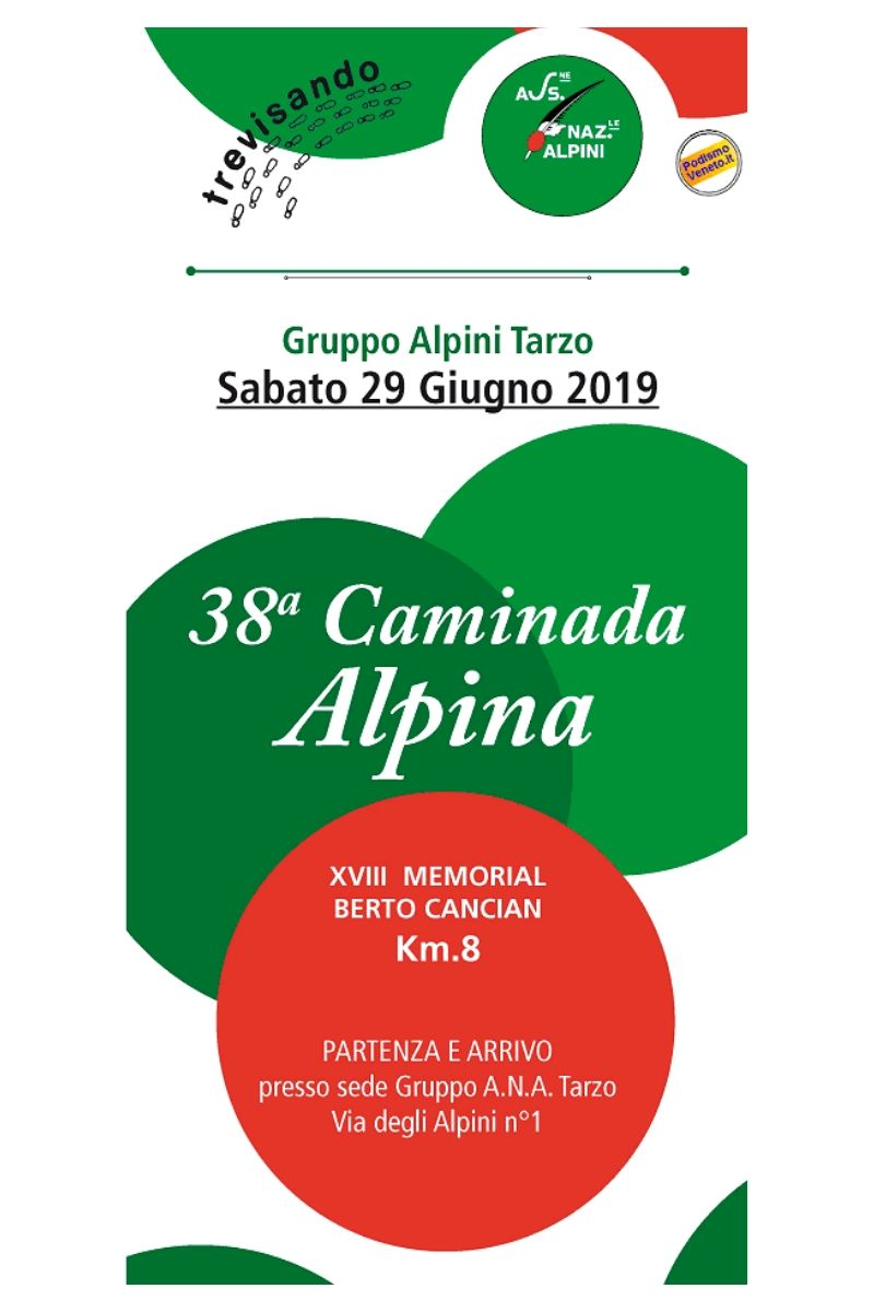 Calendario Podismo Veneto Ottobre 2020.Eventi Venetando 38 Caminada Alpina Tarzo